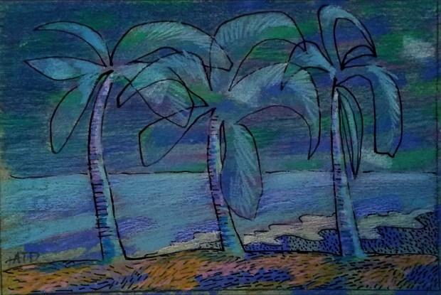 Moonlit Tropical 5x7 mixed sm