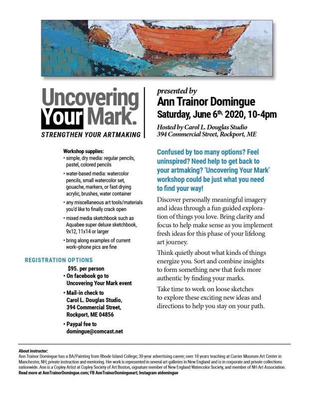 Uncovering Your Mark info and supplies flier