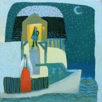 Moondance 1212x12 acrylic on canvas